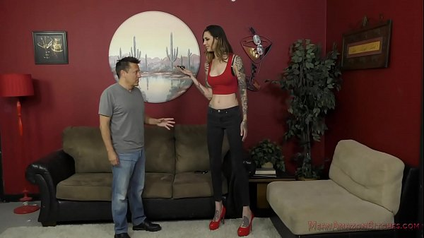 6 Foot 3 Rocky Emerson Dominates Her Short Roomate - Femdom & Ass Worship Thumb