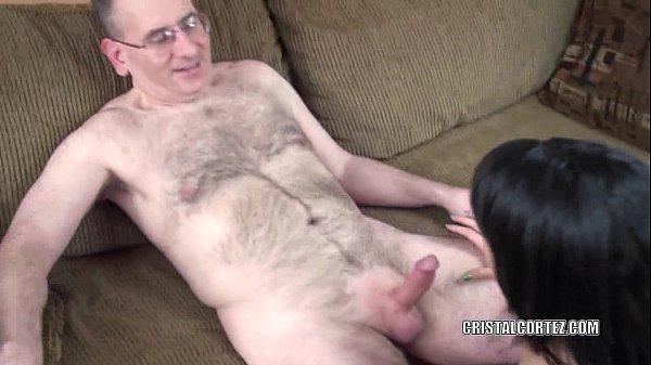 Petite slut Cristal Cortez is sucking some dick