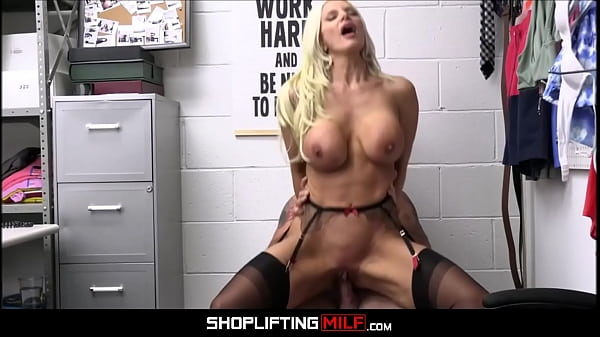 Big Tits Blonde Bombshell MILF Brittany Andrews Caught Shoplifting Necklace Inside Her Pussy Fucked By Guard