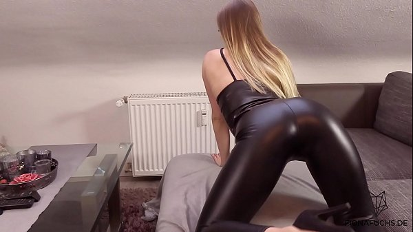 Blonde girl get fucked in leather tights | Fiona Fuchs Thumb
