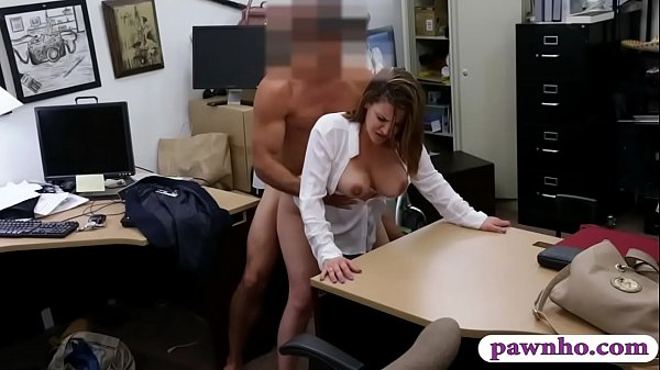 Business lady drilled by nasty pawn man in his ...