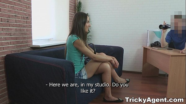 Tricky Agent - Young brunette Nataly Gold looks great in teen porn Thumb