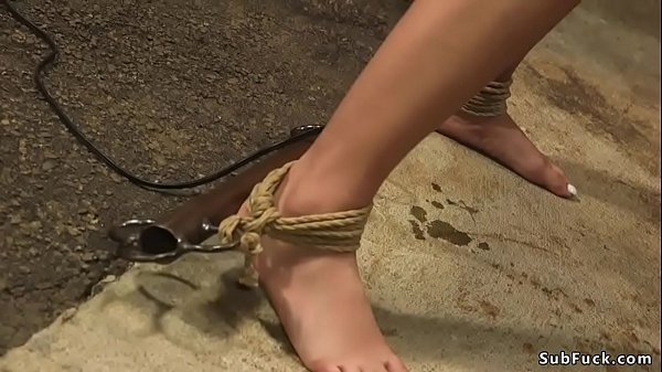 Manhandled blonde fuck in b. bondage