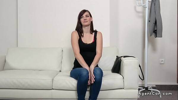 Small tittied amateur model banged at casting