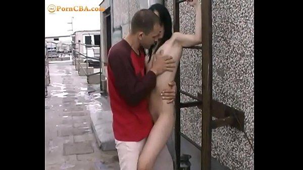 Hot outdoor sex with sweet teen