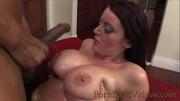 Super Hot babe with big oiled Boobs serving BBC