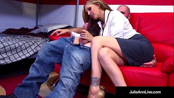 Horny Milf Tutor Julia Ann Bangs Her Student Un...