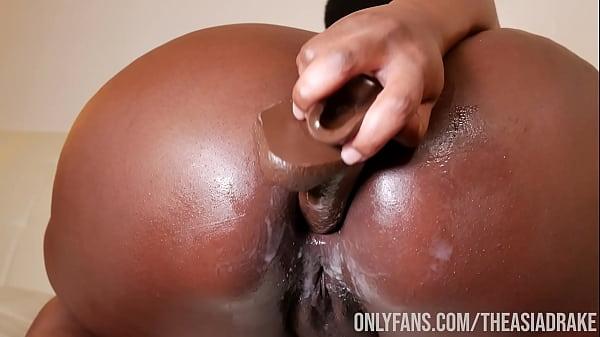 Sexy Black BBW Pounds Out Bootyhole