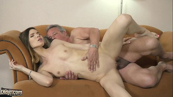 Grandpa fucks young girl hardcore w orgasm pussy penetrating and mouth cumshot