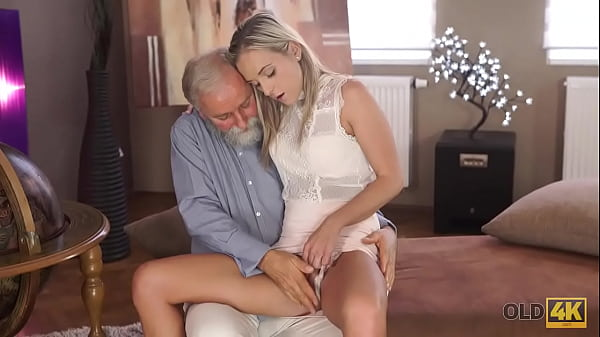 OLD4K. Old geography teacher fucks slutty blonde in various sex poses