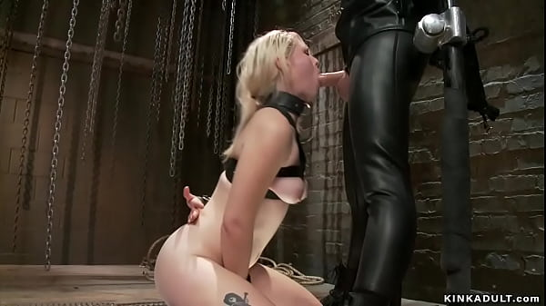 Big cock gimp anal fuck strapped blonde