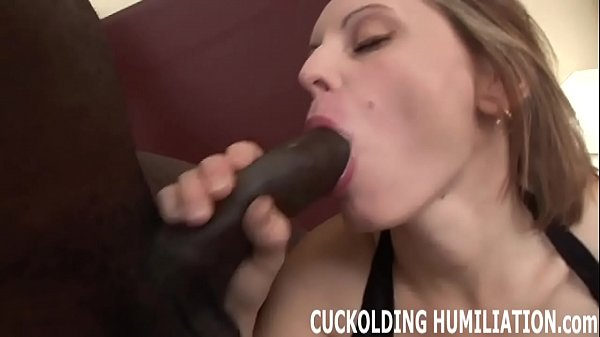 I will c. down his big cock right in front of you