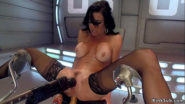 Big tits Milf anal fucks machine
