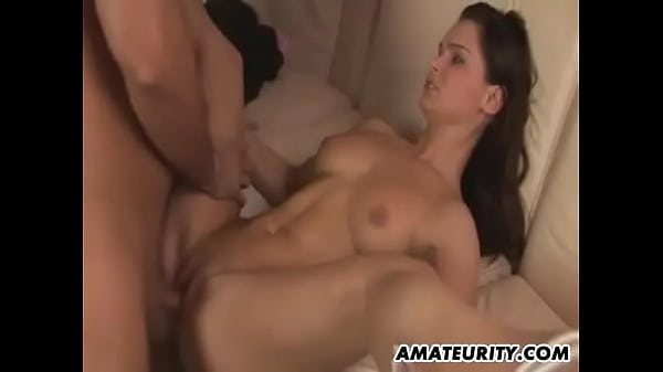 Nasty brunette rides a hard cock and gets all her wet holes fucked