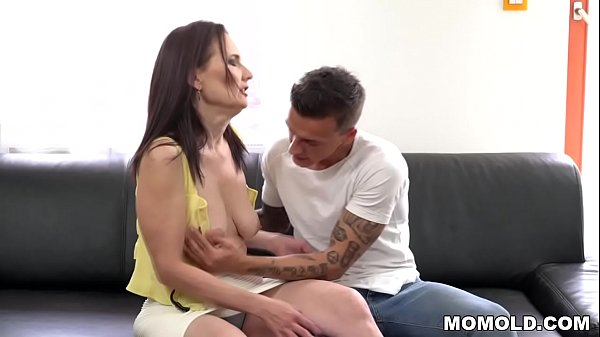 Young guy fucks saggy titted Mom