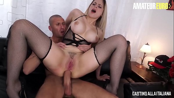 AMATEUR EURO - Big Ass MILF Vittoria Dolce Takes That Huge Cock Right Up In That Tight Ass