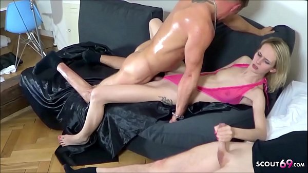 Two Guys Tricked Skinny German Teen Jenny Smart in Rough Threesome