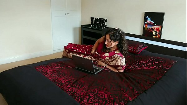 Red saree Bhabhi caught watching porn blackmailed and forced to fuck by Devar dirty hindi audio desi chudai leaked scandal taboo sextape bollywood POV Indian Thumb