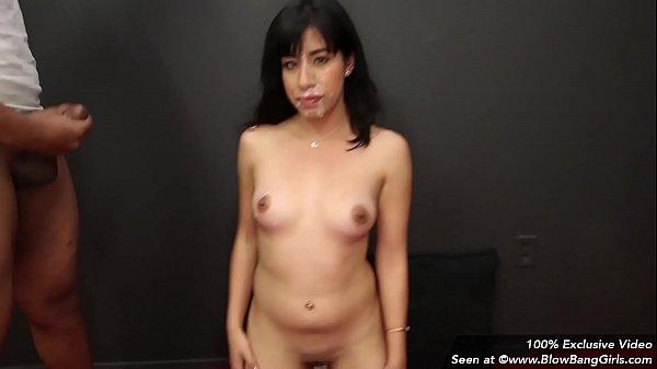 Awkward Sexy Latina In Her First Porno Gets Facials