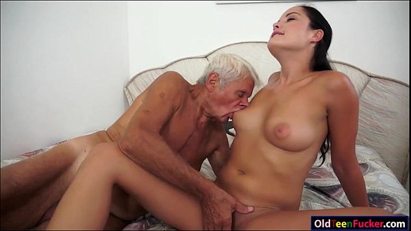 Dolly Diore sucks off  a grandpas cock and sits on his face Thumb