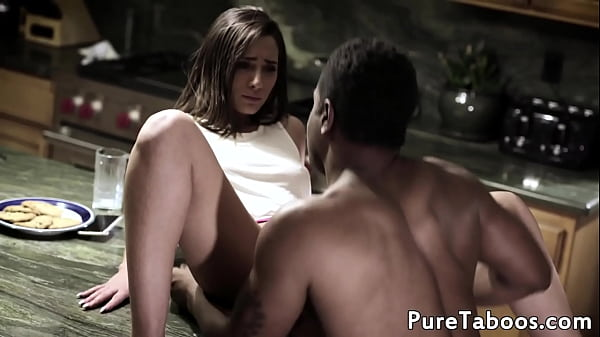 Cute babe creampied by black cock