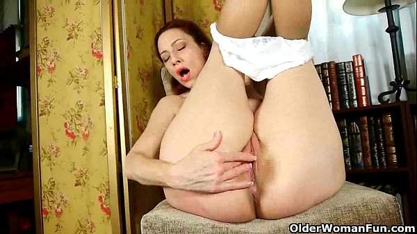 Hard nippled milfs Hope and Betty in nyloned cotton panties