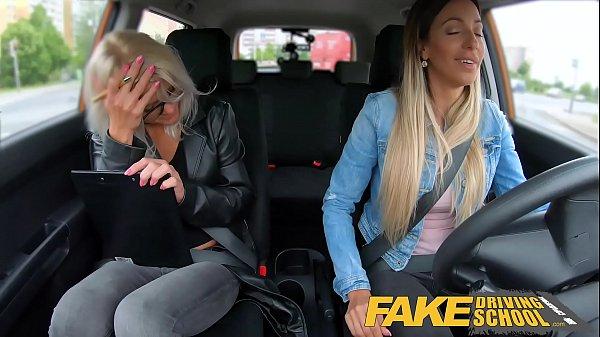 Fake Driving School Learner licks Kathy Anderso...
