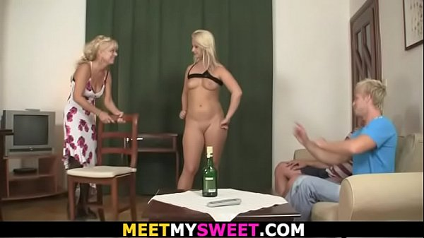 Old couple with teen hot family threesome sex