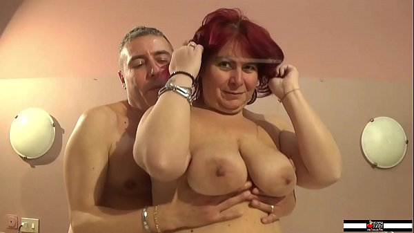 Horny busty redhead mature does her first porn ...