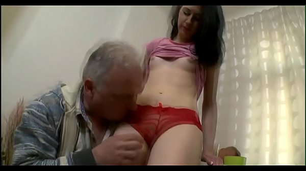 Old chap eats young cum-hole