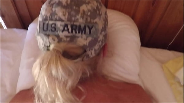 Fit blonde soldier fucked by her drill sergeant