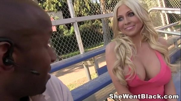 Busty Blonde fucked Hard by a Gigantic Black Dick