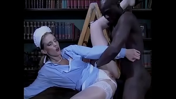 Sexy white maid bothered and fucked by a black Thumb
