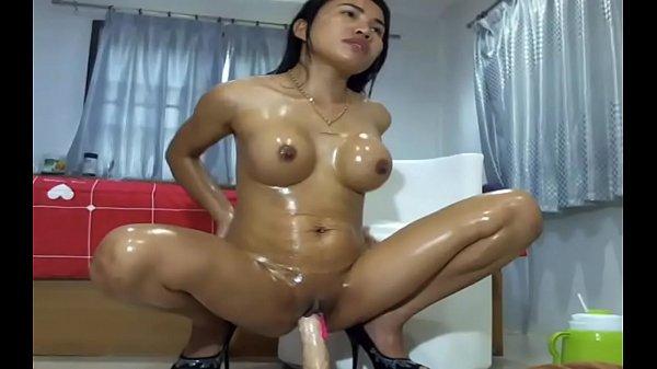 Asian Masturbating Dildo Oil Tight Body - FreeA...
