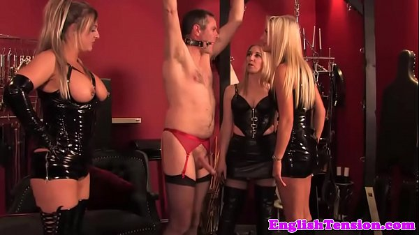 Latex bdsm milf group flogging sissy man