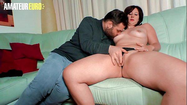 AMATEUR EURO - German Amateur MILF Melanie E. Rides Cock On First Porn Shooting Ever