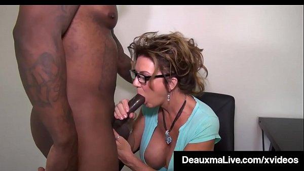 Busty Texas Cougar Deauxma Sucks Big Black Cock For Tax Loan