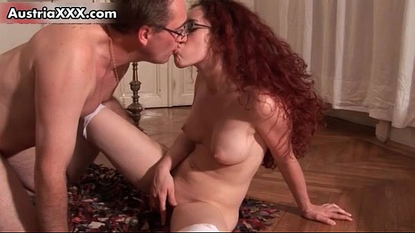 Nerd brunette girl gets her wet tight
