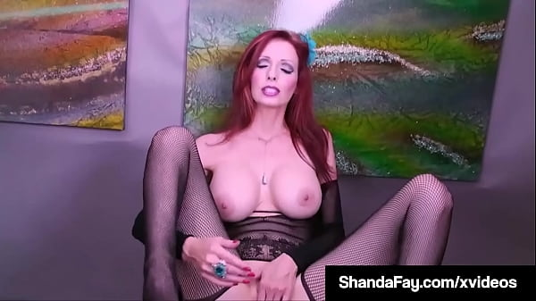 Busty Crotchless Cougar Shanda Fay Dildo Fucks Her Moist Mature Muff