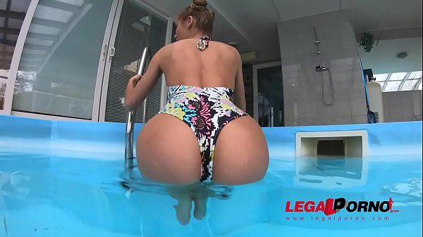 Alexis Crystal Poolside fun before All Holes Stuffed with HUGE cocks