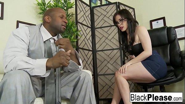 Gorgeous Jennifer receives an interracial cream...