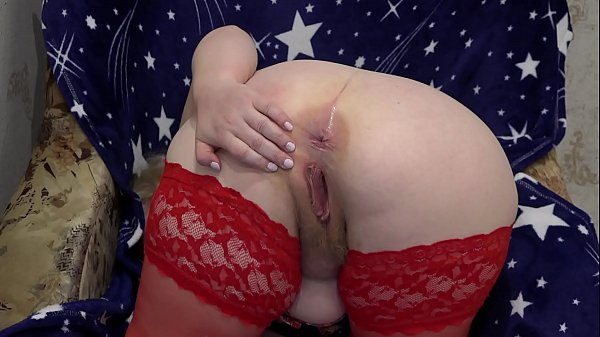 Fat milf in stockings in front of the webcam shakes big tits and masturbates her hairy pussy to orgasm.