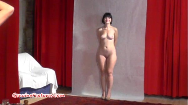 19yo cutie shows her body at her first erotic CASTING