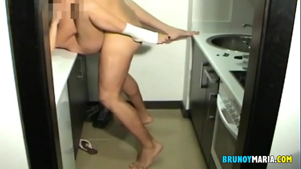 With my big breasts I ended up fucking him in the kitchen