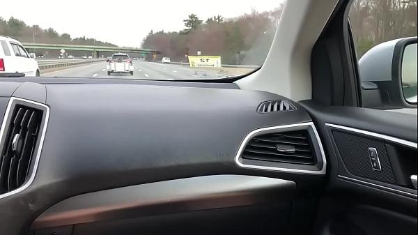 Handjob driving Massachusetts in car Thumb