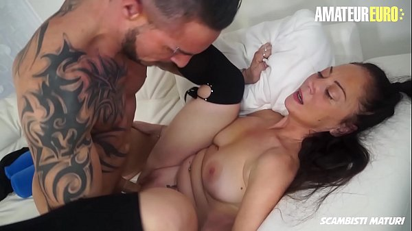 AMATEUR EURO - Horny Mature Lady Moana Prati Gets Deep Drilled On Cam By Young Stud Julius Thumb