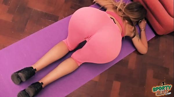 Yoga Pants Big Ass Blonde