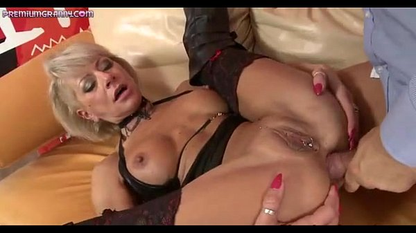 A kinky blond Milf gets fucked by a big dick