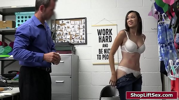 Busty asian thief is fucked to get free Thumb