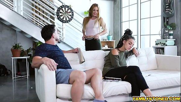 Peter Green feeds Sloan Harper his big cock deep down her throat! Thumb